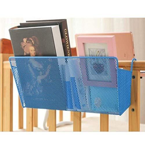 Willlly Opbergmand voor op de bed, met haken, voor kantoor, slaapzaal, stapelbed, ijzer, mesh Caddy A Sale Home dagelijks gebruik product