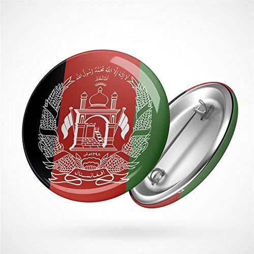 Hellweg Druckerei Button Anstecker Afghanistan Flagge Südasien Flag Badge Abzeichen Pin