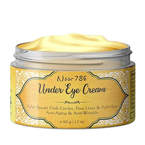 Noor 786 Halal Friendly Under Eye Cream For Dark Circles, Fine Lines & Puffy Eyes, 50g