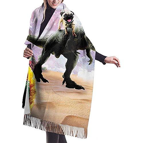 Cathycathy Space Mops Reiten Dinosaurier Uniocrn Taco Schal Leichte Unisex Mode Weiche Schals Fransen Schal Wraps