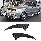 TGFOF Aletas divisorias de Labios de Parachoques Trasero de Fibra de Carbono para Mercedes Benz CLA Clase C118 CLA 250 CLA 35 AMG Sedan 4 Puertas 2020-2021