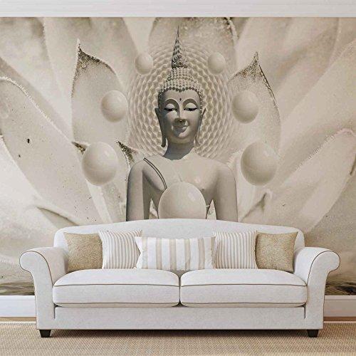 Buddha Zen Kugeln Blume - Forwall - Fototapete - Tapete - Fotomural - Mural Wandbild - (3179WM) - XXL - 312cm x 219cm - VLIES (EasyInstall) - 3 Pieces