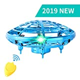 Flying Toys for Kids Mini UFO Drone Hand Operated Drones with 5 Sensors and 2 Speed,Flying Ball Drone Easy Indoor Outdoor Toys,Great Flying Drone Gift for Boys/Girls,USB Charging and Remote Controller