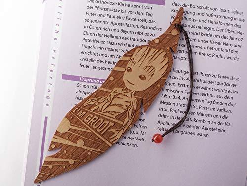 Lesezeichen aus Holz, I'm Groot, MinaturArt