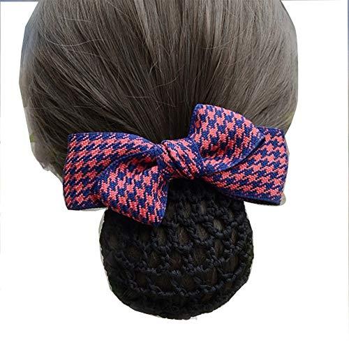 YUNGYE Bureau de la Mode Lady Bow Tie Croix Fleur Barrette Barrette Couverture Bowknot Net Profond Snood for Les Cheveux Longs for Les Femmes (Color :