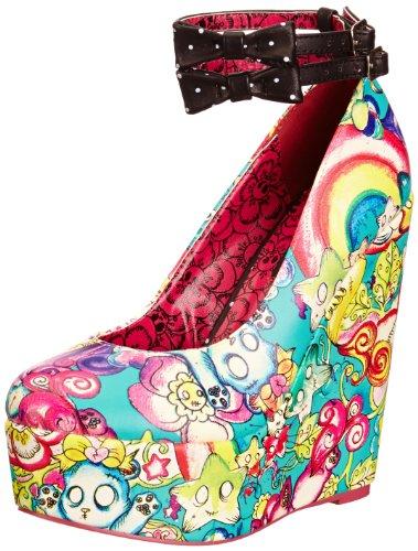 Iron Fist Over The Rainbow Wedge - Zapatos de Vestir de Cuero para Mujer
