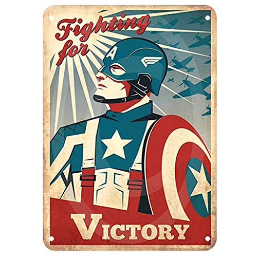 KUSTOM FACTORY Plaque Acier Vintage Captain America