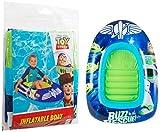 Sambro- Outdoor Swimming Buzz Lightyear Spaceship Design Gonfiabile per Bambini Piscina Dingy/Barca/Sdraio, Colore Caratterizzato da Woody, Jessie, Toy Story