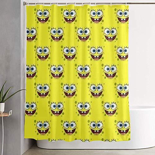 226 MILAIDI Duschvorhang Spongebob Happy (4) Shower Curtain Decor for Men Women Boys Girls 60x72 in