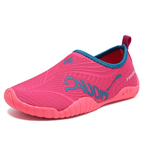 CIOR Kids Toddler Water Shoes Quick-Dry Boys and Girls Slip-on Aqua Beach Sneakers (Toddler/Little Kid/Big Kid)-VY03-3rose red-26