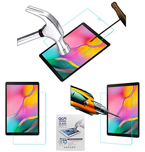 Acm Tempered Glass Screenguard Compatible with Samsung Galaxy Tab A 10.1 2019 Sm-T510 Tablet Screen Guard