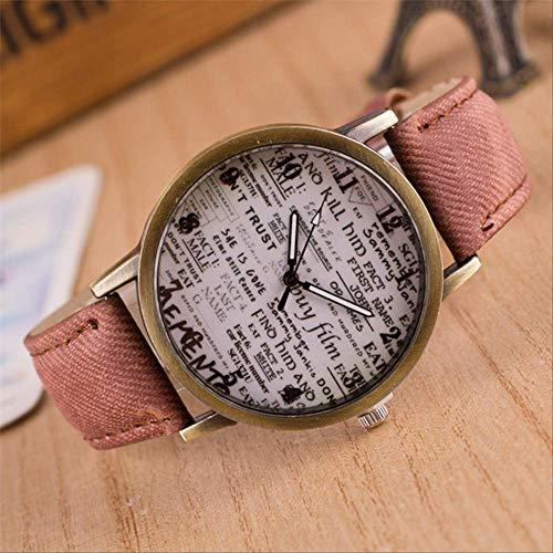Orologio Uomini Tela Band Quartz Wristwatches British Vintage Graffiti Semplice Casual Garbled Personalità Donne Orologi Uomini Regalo Marrone