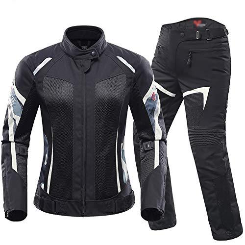 Coppie Giacca Giubbotto Moto,Impermiabile Con l'armatura Tessile Giacca da Ciclismo da Motociclista Quattro Stagioni Tuta da Motociclista Tuta da Rally Anticaduta C,M