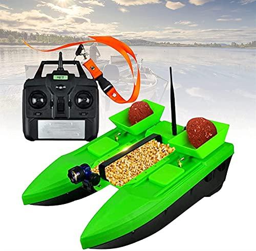 HHORB Barco De Cebo Barco De Señuelo De Pesca RC, Barco De Señuelo De Pescado RC Nivel 4-5 Resistencia Al Viento, Barco De Cebo De Pesca RC con Motores Duales