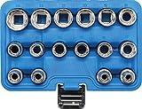 BGS 2226 | Juego de llaves de vaso 12 caras | entrada 12,5 mm (1/2') | 8 - 24 mm | 16 piezas