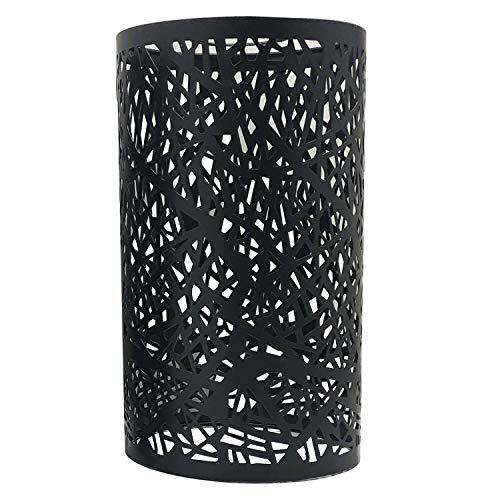 Marco de metal moderno para lámpara de techo, estilo retro, fácil de instalar, con jaula de alambre cilíndrico, color negro