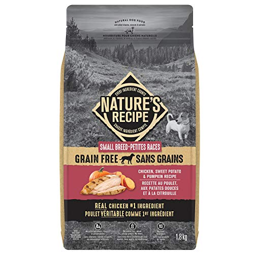Nature's Recipe Small Breed Grain Free Chicken, Sweet Potato & Pumpkin Recipe Dog Food 1.8kg