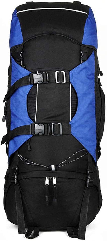 KUVV Durable Outdoor Bergsteigen Tasche Reisen Groer Rucksack 80L Mehrzweck Camping Rucksack (Farbe   Blau)