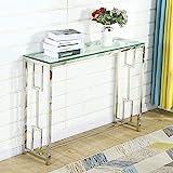 Mesa Consola Recibidor Bacyion Mesa de Entrada Mesa Auxiliar para Salón, Recibidor de Entrada de Cristal, Dormitorio, Montaje fácil