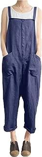 Women Plus Size Overalls Baggy Bib Rompers Casual Wide Leg Pants Sleeveless Jumpsuit Harem Overalls Pants