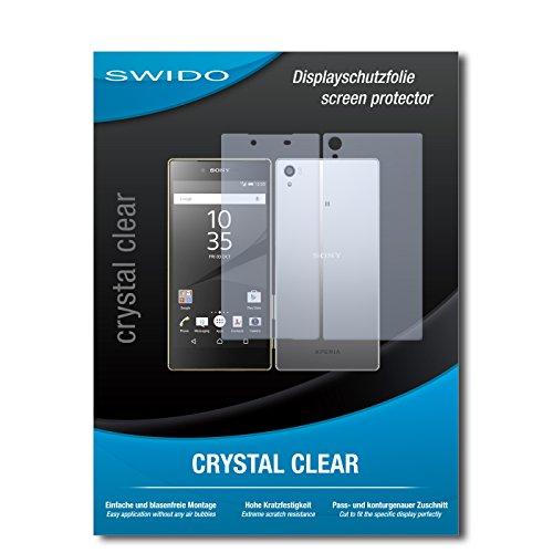 SWIDO Bildschirmschutzfolie für Sony Xperia Z5 Premium [3 Stück] Kristall-Klar, Extrem Kratzfest, Schutz vor Öl, Staub & Kratzer/Glasfolie, Bildschirmschutz, Schutzfolie, Panzerfolie