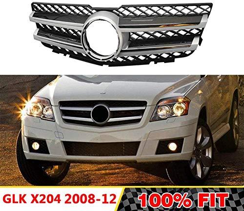 DDDXF Racing Grills Auto Front Upper Grille Grill Für Mercedes-Benz Glk-Klasse X204 A2048800883 2008-2012 Chrom Silber