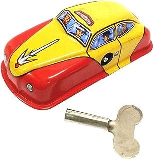 Kekailu Children Toys, Classic Mini Iron Polices Fire Car Wind up Clockwork Development Kids Toy Gift, Taxi