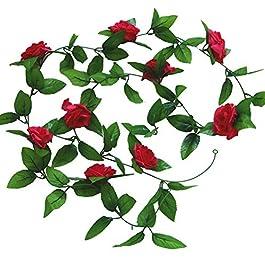 GanYu Fleur Artificielle Sèche Fleur de Noël Vigne de Noël Rotin Mariage Balcon Décoration de Fausses Fleur d'Hôtel…
