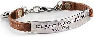 Sweet Romance Inspirational Leather Band Bible Message Bracelets
