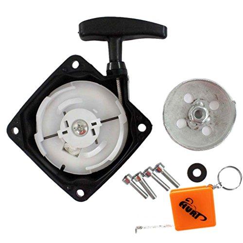 HURI Seilzugstarter/Starter + Mitnehmerplatt passend für Brast 4in1 Plus 1004200001 Motorsense Freischneider Heckenschere Hochenaster 52ccm