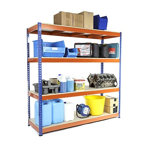 Extra Heavy Duty Garage Racking Shelving Unit 1800mm H x 1800mm W x 600mm D 500KG UDL FREE NEXT DAY DELIVERY