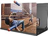 Pantalla Lupa para Móvil Lupa de la pantalla del teléfono de 32 pulgadas, amplificador de la pantalla del teléfono HD 3D Ampliar el soporte plegable de los soportes plegables, el proyector universal d