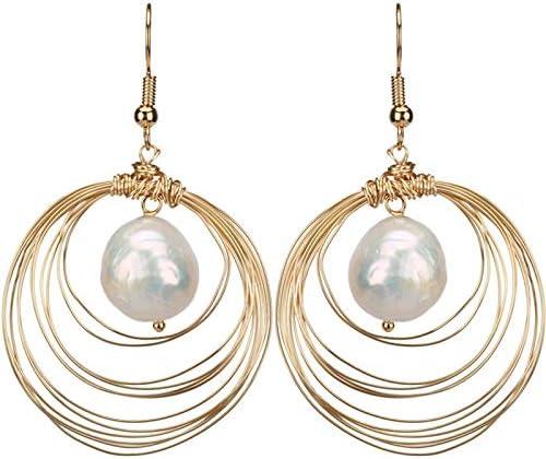 JYEMDV Product Femininity Popularity Atmosphere Natural Earrings Pearl Personality