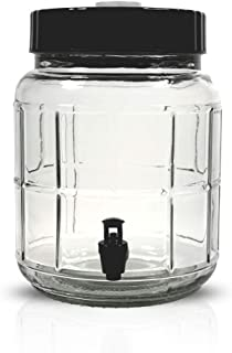 Mr. Beer 20-21000-00 1 Gallon Heavy Duty Glass Fermenter with Spigot for Homebrewing Beer, Wine, Kombucha, Kefir or Cold Brew Coffee, 1.5 Gallons