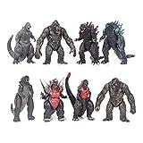 DZLXY Conjunto de Figuras de muñecas de Monstruos, Figura de acción de Godzilla y Kong, Figura de muñeca de Anime Juguetes de PVC, Figura Modelo de Mesa Decoración de Escritorio Estatuas Figura
