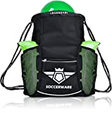 Soccer Bag Backpack with Ball Holder Pocket for Kids Youth Boys Girls Sackpack