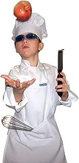 Chefskin White Children Chef Set Apron and Hat Small