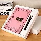 Diario A5 con cerradura de combinación, cuaderno con contraseña, agenda secreta, bloc de notas, planificador con pluma, regalo para niños y niñas