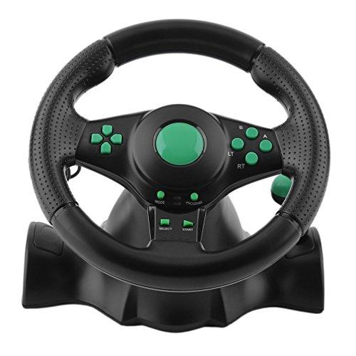 USB 180 Grados Gaming Vibration Racing Pedales Del Volante Para Xbox 360 / Ps2 / Ps3 / Pc Playstation Accesorios