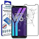 ebestStar - kompatibel mit Huawei Y6 2018 Panzerglas Schutzfolie Glas, Schutzglas Bildschirmschutz, Bildschirmschutzfolie 9H gehärtes Glas [Y6 2018: 152.4 x 73 x 7.8mm, 5.7'']