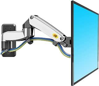 North Bayou - Soporte de pared para monitor de TV (articulado, giratorio, para pantalla de 17 a 27 pulgadas, con resorte de gas), chrome-plating double extension
