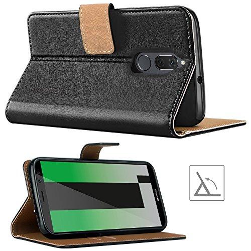 HOOMIL für Huawei Mate 10 Lite Hülle, Handyhülle für Huawei Mate 10 Lite, Premium PU Leder Tasche Flip Schutzhülle für Huawei Mate 10 Lite Smartphone, Schwarz - 4