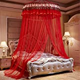 Lotus Karen Luxury Double Lace Mosquito Net Bed Canopy Netting Mesh Curtain Round Dome Princess Bedding Net