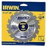 IRWIN Tools MARATHON Carbide Cordless Circular Saw Blade, 5 1/2-Inch, 18T, .063-inch Kerf (14027)