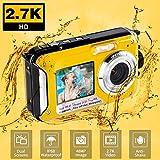 Unterwasserkamera Unterwasser Kamera FHD 2.7K zum Schnorcheln 48MP Selfie Dual