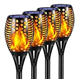 Ambaret Solar Lights Outdoor, Waterproof Flickering Flames Solar Torch Lights Outdoor Landscape Decoration Lights Dusk to Dawn Auto On/Off Security Dancing Flame Lighting for Patio Garden (4)