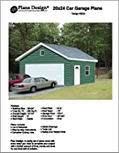 20' X 24' Two Cars Garage Project Plans -Design #52024