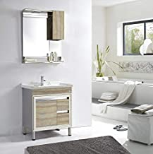 FUAO SANITARYWARE Lusso Wall Mounted Designer Art Bathroom Vanity with 800 x 460 mm Cabinet Shelf, 800 x 600 mm Mirror and...