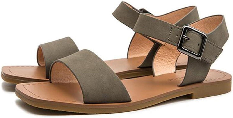 CJC Sandals Ladies Women's Fashion shoes Ankle Strap Low Heel