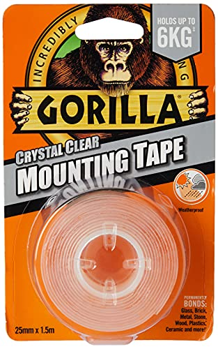 Gorilla Glue Heavy-Duty Double Sided Mounting Tape Clear 25mm x 1.5